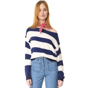 Free People navy/white sweater